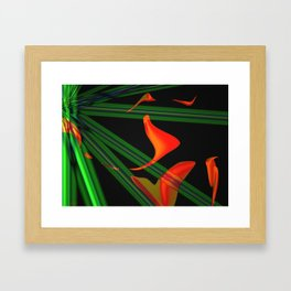 Cosmic Tulips Framed Art Print