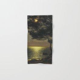 Classical Masterpiece 'Moonlit Coast' by Ivan Fedorovich Choultsé Hand & Bath Towel