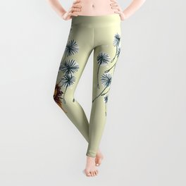 Lion on dandelion Leggings