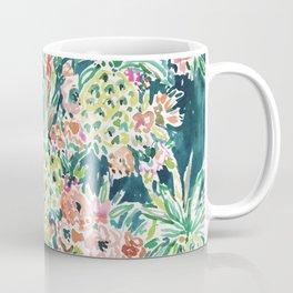 PINEAPPLE PARTY Lush Tropical Boho Floral Coffee Mug