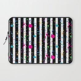 Stripes & Rainbow Splatter Laptop Sleeve