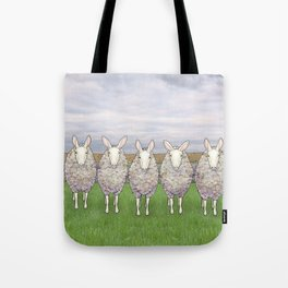 border leicesters in a line Tote Bag