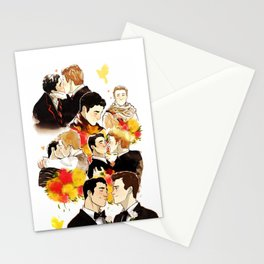 klaine throughout the seasons Stationery Cards