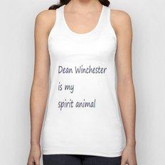 Dean Winchester Is My Spirit Animal (Supernatural inspired) Unisex Tank Top