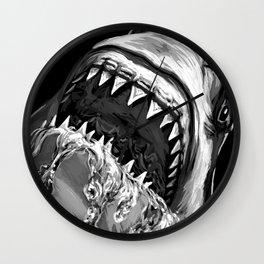 Shark Painting Wall Clock