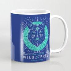 Wild & Free Wolf – Navy Mug