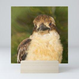 Painted laughing kookaburra Mini Art Print
