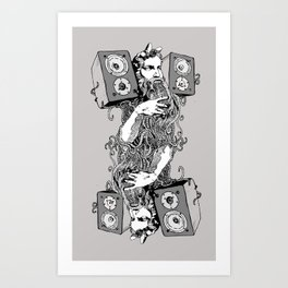 Double Stereo Moses Art Print