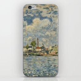 Alfred Sisley - La Seine Au Point Du Jour iPhone Skin