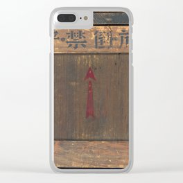 Vintage Asian Shipping Crate Clear iPhone Case