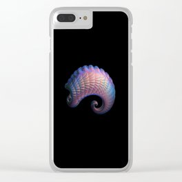 3D Fractal Curl Clear iPhone Case