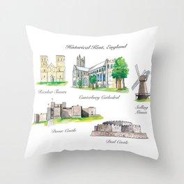 Historical Kent, England Throw Pillow