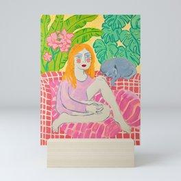 Sammi and a Sleeping Storm Mini Art Print