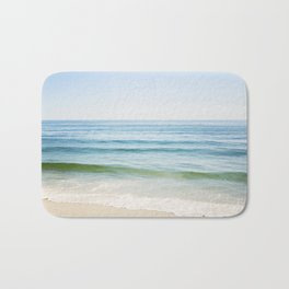 Ocean Seascape Photography, Blue Sea Landscape, Beach Waves Coastal, Seashore Horizon Bath Mat