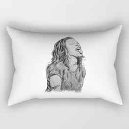 Harry Styles with tongue out Rectangular Pillow