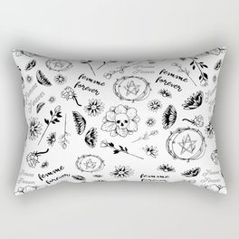 Femme Forever - Cute Floral Occult Picture Rectangular Pillow