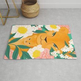 Mother Lion and Cub I Rug