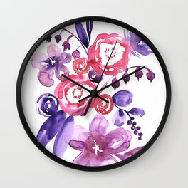 """Floral abstract bouquet """"Emma"""" Wall Clock"""