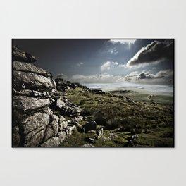 DARTMOOR ROCKS Canvas Print