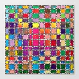 Stained Glass Window Multicolour Pattern Canvas Print