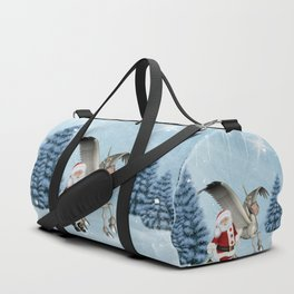 Santa Claus with cute pegasus Duffle Bag