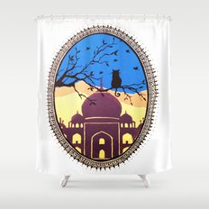 Indian cat view Shower Curtain