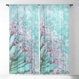 Dew on dandelions II Sheer Curtain