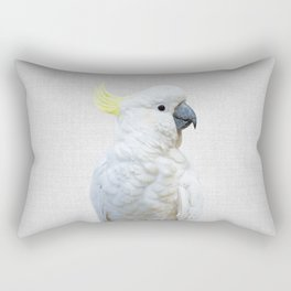 White Cockatoo - Colorful Rectangular Pillow