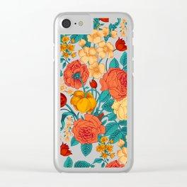Vintage flower garden Clear iPhone Case