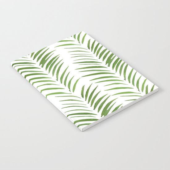 Herringbone Green Nature Pattern Notebook