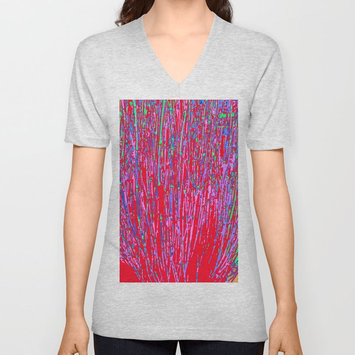 colorful streaks Unisex V-Neck