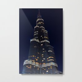 Dubaï, Burj Kalifa The Night Metal Print