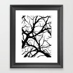 Black n White branche Framed Art Print
