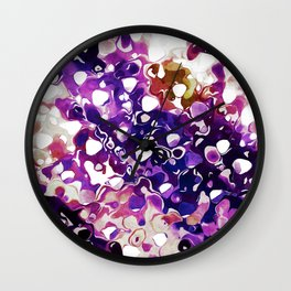 Purple Paint Wall Clock