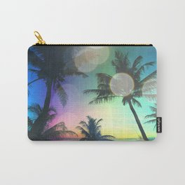 Summer Dreams : Pastel Palm Trees Carry-All Pouch