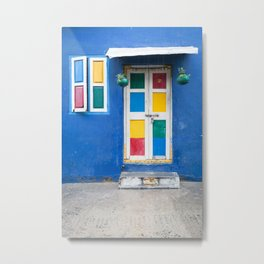 Colorful Indian Door Metal Print
