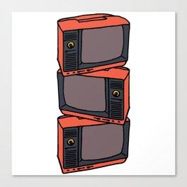 Retro Vibes : TVs Canvas Print