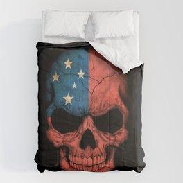 Dark Skull with Flag of Samoa Comforters