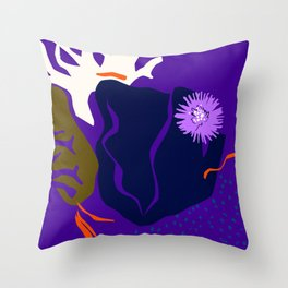 KING OF THE REEF Throw Pillow