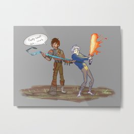 Hiccup and Jack Metal Print