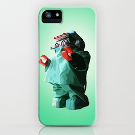 Doctorbot Green iPhone Case