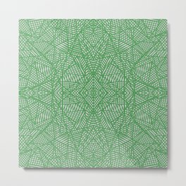 Ab Lace Green Metal Print