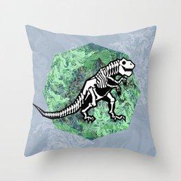 T. Rex Fossil Throw Pillow