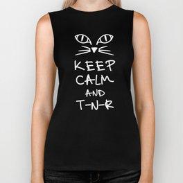 BX Feral Cat Care - Keep Calm and TNR Biker Tank