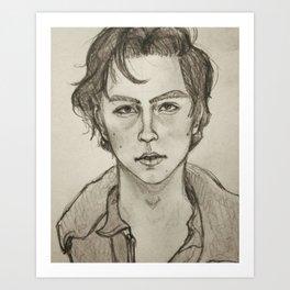 Cole Sprouse Portrait Art Print