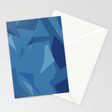 Blue Abstract Map Stationery Cards