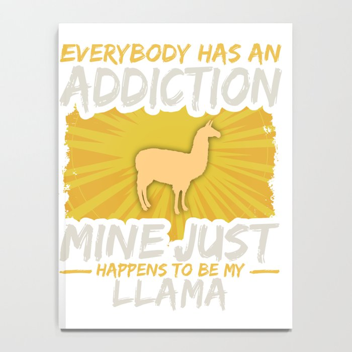 Llama Addiction Funny Farm Animal Lover Notebook