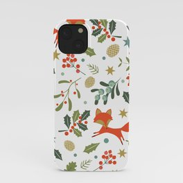 Cute orange fox iPhone Case