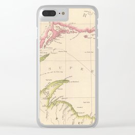 Vintage Map of Lake Superior (1832) Clear iPhone Case