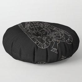 Old Swedish viking runestone Floor Pillow
